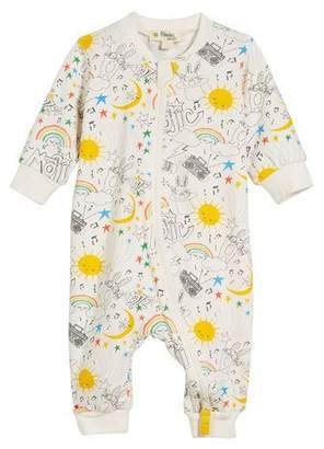 bonniemob Buzzy Magic-Print Zip-Front Coverall, Size 0-18 Months
