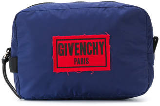 Givenchy logo plaque wash bag