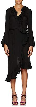 Juan Carlos Obando Women's Washed Cotton-Blend Wrap-Front Dress - Black