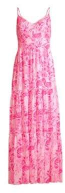 Lilly Pulitzer Women's Melody Floral Maxi Dress - Coral Reef - Size 2