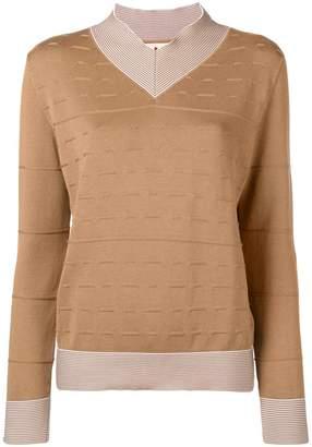 Marni striped insert high neck sweater