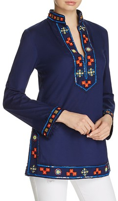 Tory Burch Embellished Tory Tunic $325 thestylecure.com