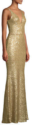 Dress the Population Harper Plunging V-Neck Sequin Gown