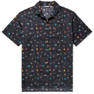 Lanvin Camp-Collar Printed Cotton Shirt