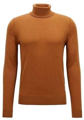 HUGO BOSS Slim-fit turtleneck sweater in a fine-knit cotton blend
