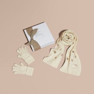 Burberry Printed Cashmere Two-piece Gift Set $295 thestylecure.com