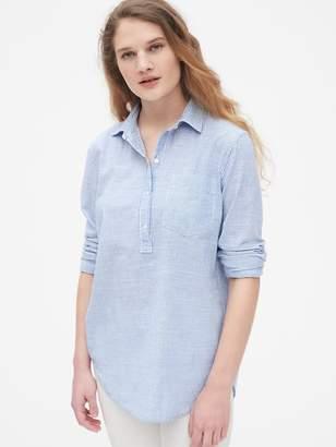 Gap Boyfriend Stripe Popover Shirt