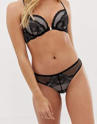 New Look brazilian brief in black