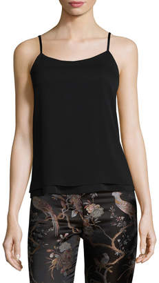 Alice + Olivia Women's Andy Loose Crinkle Tank