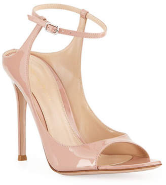 Gianvito Rossi Shiny Ankle-Strap Sandals