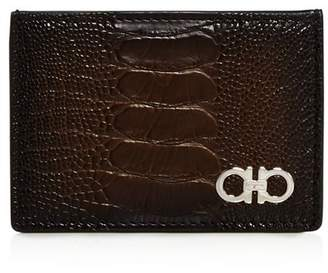 Salvatore Ferragamo Exotic Skin Card Case