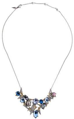 Alexis Bittar Crystal & Faux Pearl Collar Necklace