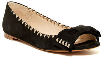 Delman Sami Peep Toe Bow Flat $248 thestylecure.com