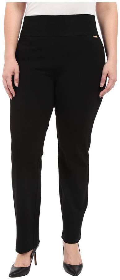 Calvin Klein Plus - Plus Size Wide Waist Straight Pants Women's Casual Pants