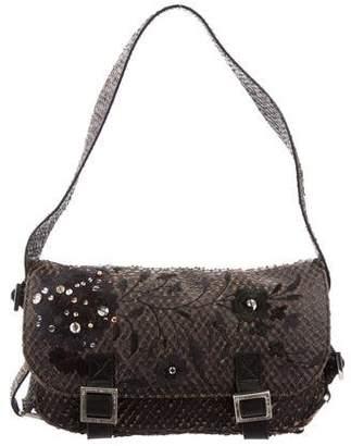 John Galliano Embroidered Flap Bag