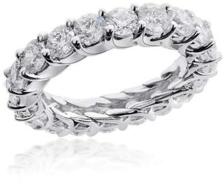 14K White Gold & U Prong Diamond Eternity Wedding Ring