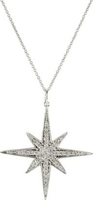 Sydney Evan Large Pave Diamond Starburst Necklace