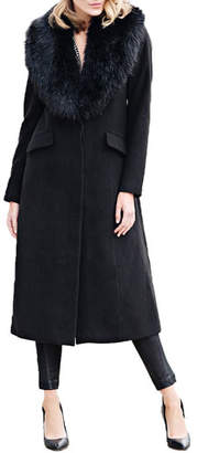 Fabulous Furs Uptown Faux Fur Full-Length Coat