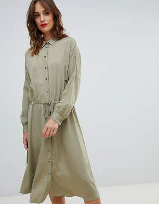 BOSS Casual Boss Casual shirt dress with drawstring belt