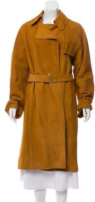 Hermes Suede Long Coat