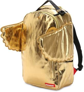 Sprayground All Gold Wing Nylon Canvas Backpack