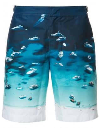 Orlebar Brown boat print swim shorts $345 thestylecure.com
