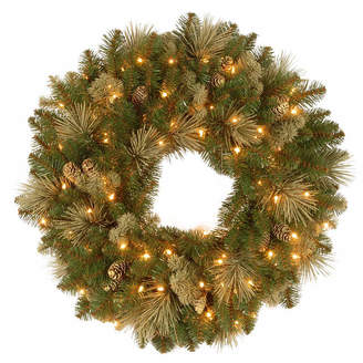 NATIONAL TREE CO National Tree Co. Flocked Pine Cones And Carolina Pine Indoor/Outdoor Christmas Wreath