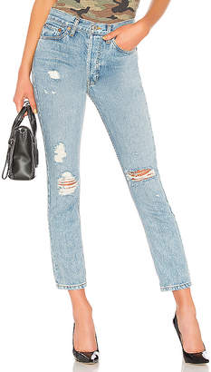 RE/DONE Originals High Rise Straight Jean.