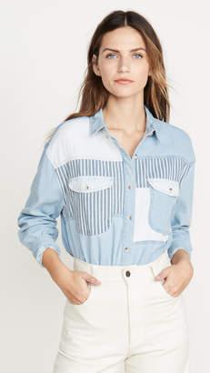 ROLLA'S Patch Denim Shirt