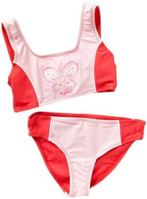 Playshoes Girl's UV Sun Protection Swimsuit Butterfly Bikini,7 Years (Manufacturer Size:122/128 (7-8 Years))