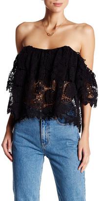 Tularosa Amelia Crochet Lace Cropped Blouse $168 thestylecure.com