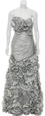 Terani Couture Ruffled Embellished Gown