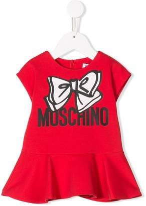 Moschino Kids logo print dress