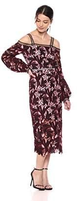 Elliatt Women's Apparel Women's Shakespeare Long Volume Sleeve Dress