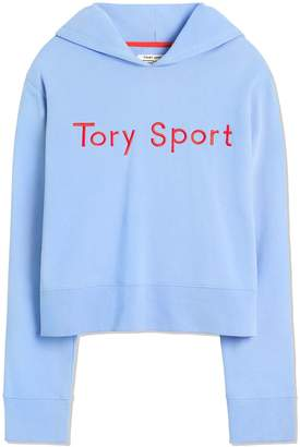 Tory Sport FRENCH TERRY EMBROIDERED HOODIE