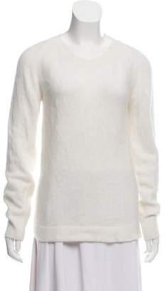 Acne Studios Angora Knit Sweater White Angora Knit Sweater