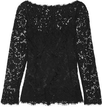 Dolce & Gabbana - Guipure Lace Top - Black $1,995 thestylecure.com