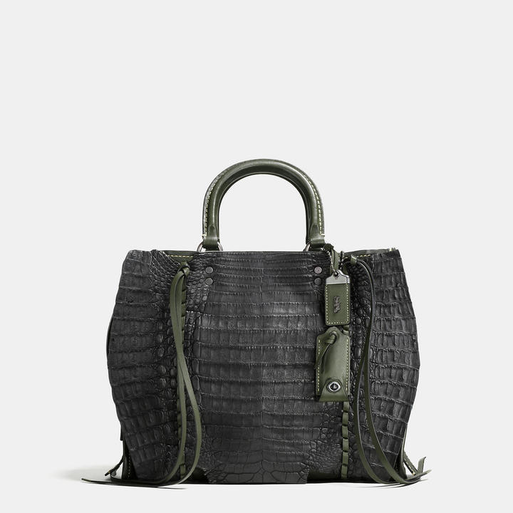 Coach   COACH Coach Rogue In Glovetanned Leather With Whipstitch Crocodile