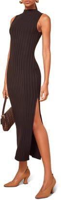 Reformation Lynn Sleeveless Ribbed Sweater Dress