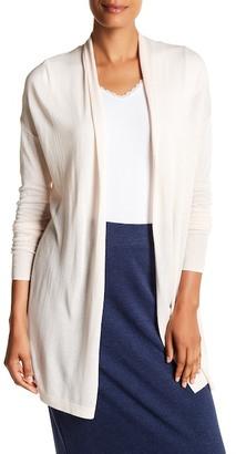 Joan Vass Long Sleeve Open Front Cardigan $78 thestylecure.com