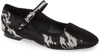 Jeffrey Campbell Genuine Calf Hair Mary Jane Flat