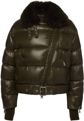 Moncler Foulque Down Jacket with Fur Collar