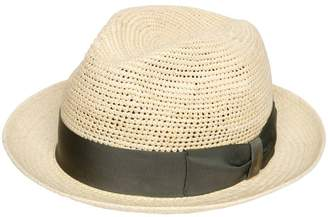 Borsalino Crocheted Medium Brim Straw Panama Hat