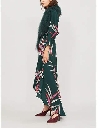 Diane von Furstenberg Asymmetric silk midi dress