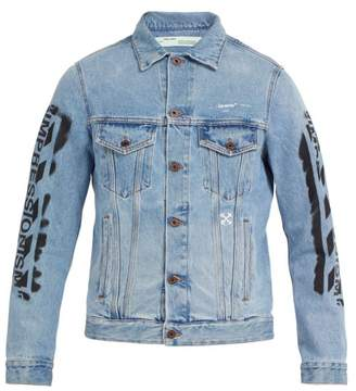 Off-White Impressionism Denim Jacket - Mens - Blue