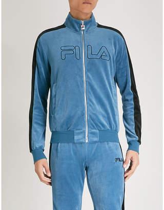 Fila Logo-embroidered cotton-blend zip-up jacket
