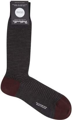 Pantherella Houndstooth Print Socks