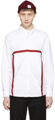 Visvim White and Red VandV 5 Nation Shirt