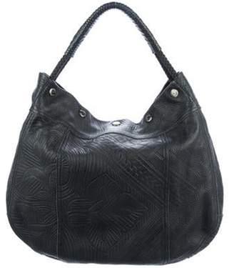 Prada Embossed Leather Hobo Black Embossed Leather Hobo
