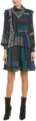 Derek Lam 10 Crosby Scarf Neck A-Line Dress